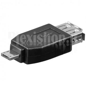 Adattatore USB 2.0 Hi-Speed A femmina/micro A maschio