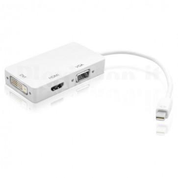 Adattatore 3 in 1 Mini DisplayPort 1.2 (Thunderbolt) a HDMI/DVI/VGA