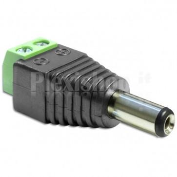 Adattatore Alimentazione DC 2.5 x 5.5 mm Maschio Terminal Block 2 pin