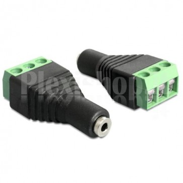Adattatore Audio 2.5'' Femmina Terminal Block 3 pin