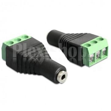 Adattatore Audio 2.5'' Femmina Terminal Block 3 pin