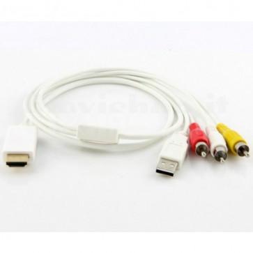 Adattatore da HDMI a Video Composito + USB
