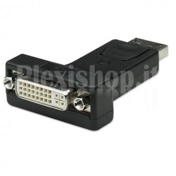 Adattatore DisplayPort DP M a DVI-I 24+5 F