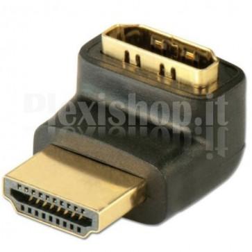 Adattatore HDMI M/F 90° verso il basso