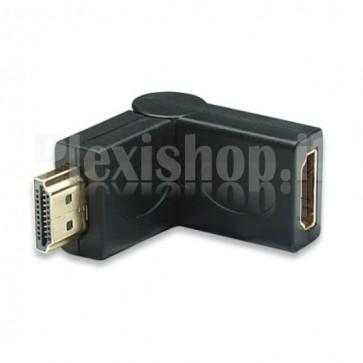 Adattatore HDMI M/F regolabile 180°