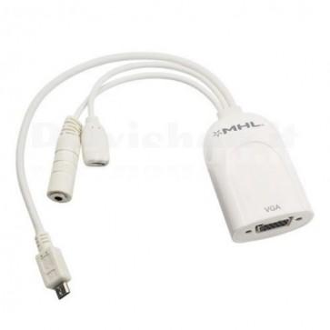 Adattatore MHL a VGA con audio per dispositivi mobili
