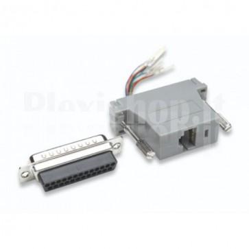 Adattatore Modulare DB 25p. M / RJ45 8 fili