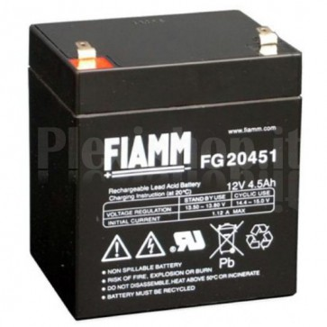 Batteria al Piombo 12V 4,5Ah (Faston 4,8mm)