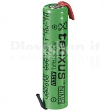 Batteria Ni-Mh AAA 800 mAh da saldare FT-1Z