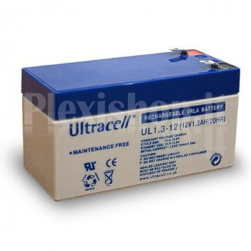 Batteria al Piombo 12V 1,3Ah, UL 1.3-12 (Faston 187 - 4,8mm)