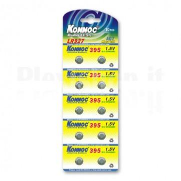 Batterie a bottone Alcalina LR57 LR927 395 AG7 (set 10 pz)