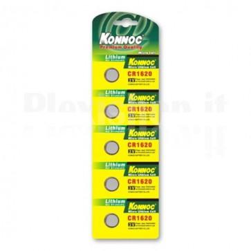 Batterie a bottone Litio CR1620 (set 5 pz)