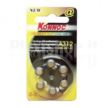 Batterie a bottone (PR312, DA312, EP312E) 6pz