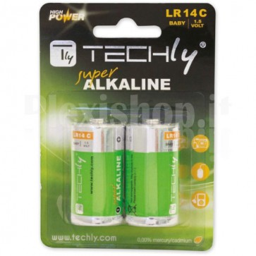 Blister 2 Batterie High Power Mezza Torcia C Alcaline LR14 1,5V