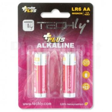 Blister 2 Batterie Power Plus Stilo AA Alcaline LR06 1,5V