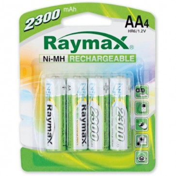 Blister 4 Batterie Ricaricabili Stilo AA 2300mAh