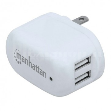 Caricabatterie 2 USB 120-240V 2A con Spina Americana