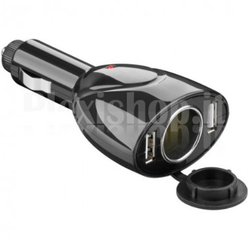 Caricatore da Auto 2p USB 1Ah + 1p 12V