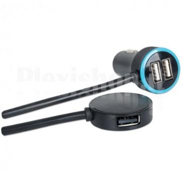 Caricatore da Auto a 4 Porte USB 4.8A totali