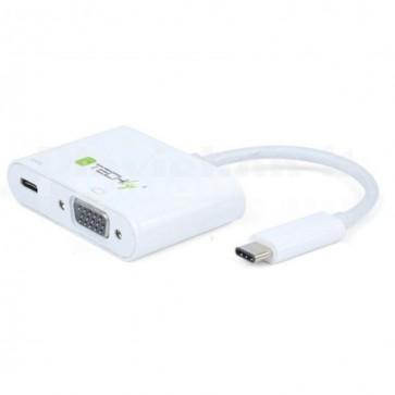 Cavo Convertitore Adattatore da USB-C a VGA, Porta di Ricarica USB-C