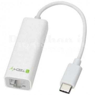 Cavo Convertitore Adattatore da USB-C M a Gigabit Ethernet