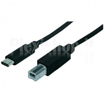 Cavo HiSpeed USB B Maschio / USB-C Maschio 1m Nero