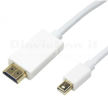 Cavo Monitor Mini DisplayPort (Thunderbolt) / HDMI 2m Bianco