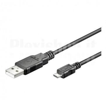 Cavo USB 2.0 A maschio/Micro A maschio 1.8 m Nero