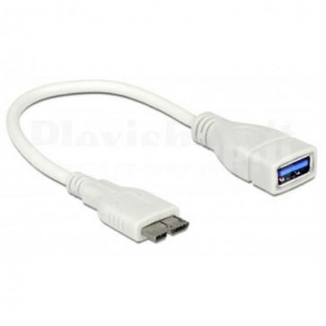 Cavo USB 3.0 OTG A Femmina / Micro B Maschio 0.2m Bianco