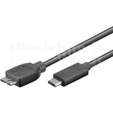 Cavo USB3.0 MicroB Maschio USB-C Maschio