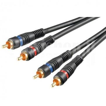 Cavo Audio 2RCA M/M 0.2 mt Alta qualità