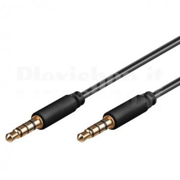 Cavo Audio 3,5'' M/M per iPhone, iPad, iPod 1 m
