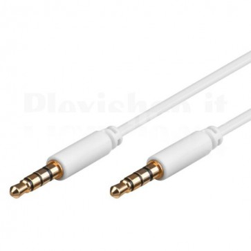 Cavo Audio 3,5'' M/M per iPhone, iPad, iPod 0,5 m