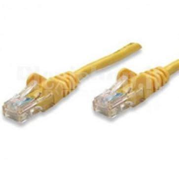 Cavo di rete Patch CCA Cat. 5e Giallo UTP 1 mt