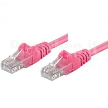 Cavo di rete Patch CCA Cat. 5e Rosa UTP 2 mt