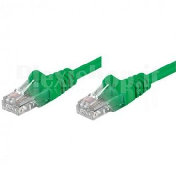 Cavo di rete Patch CCA Cat. 5e Verde UTP 0,5 mt