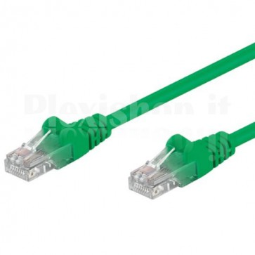 Cavo di rete Patch CCA Cat. 6 Verde UTP 3 m