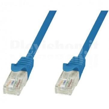 Cavo di rete Patch in CCA Cat.5E Blu UTP 0,5m