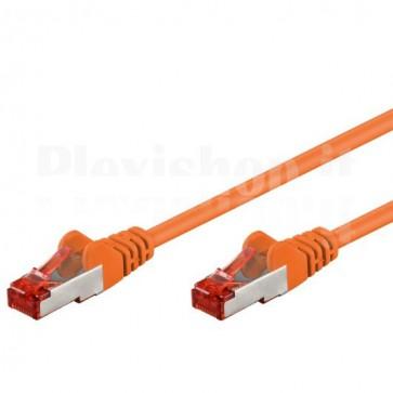 Cavo di rete Patch in CCA Schermato Cat. 6 Arancio F/UTP 0,5 m Bulk