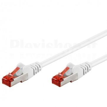 Cavo di rete Patch in rame Cat. 6 Bianco SFTP LSZH 1m