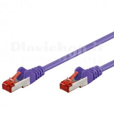 Cavo di rete Patch in CCA Schermato Cat. 6 Viola S/FTP 0,5 m Bulk