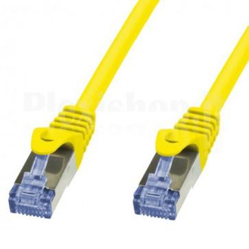 Cavo di rete Patch in Rame Cat. 6A Giallo SFTP 0,5m