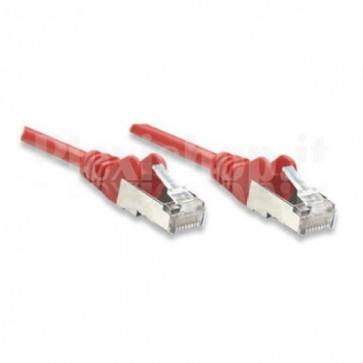 Cavo di rete Patch in Rame Cat. 6A Rosso SFTP 0,5 mt