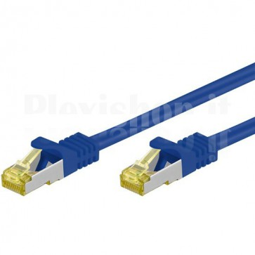 Cavo Patch Cat.7 Plug RJ45 6A S/FTP LSZH 5m Blu
