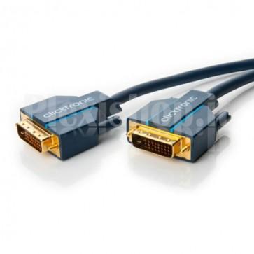 Cavo Video DVI-D 24+1 pin per HD (DVI-D/DVI-D) 1 m