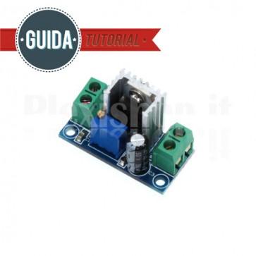 Circuito regolatore di tensione lineare regolabile con LM317