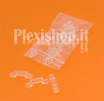 Clips in PVC per Strisce led fino a 10 mm