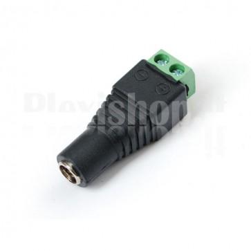 Adattatore DC Femmina 5.5x2.5mm terminali a vite