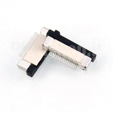 Connettore SMT da circuito stampato per cavo piatto FFC / FPC , 15P passo 0.5mm