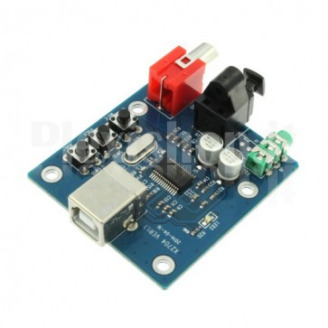 External 2 channels DAC USB to S/PDIF, PCM2704